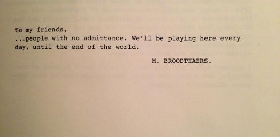 broodthaers play