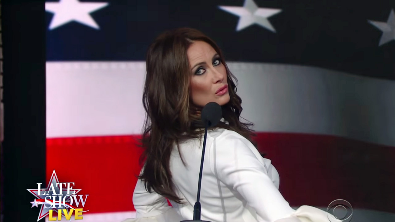 melania trump impersonator